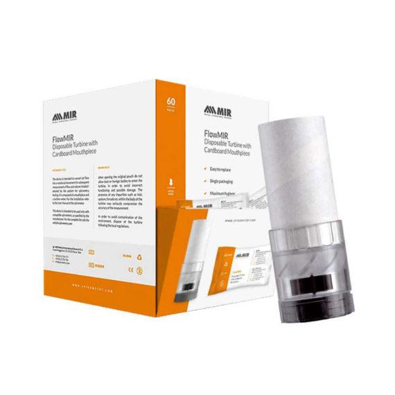 FlowMir Disposable Turbine with Cardboard Mouthpiece