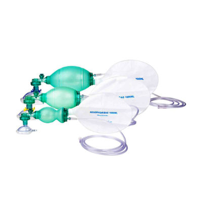 Pediatric and adult ambu bag with reservior