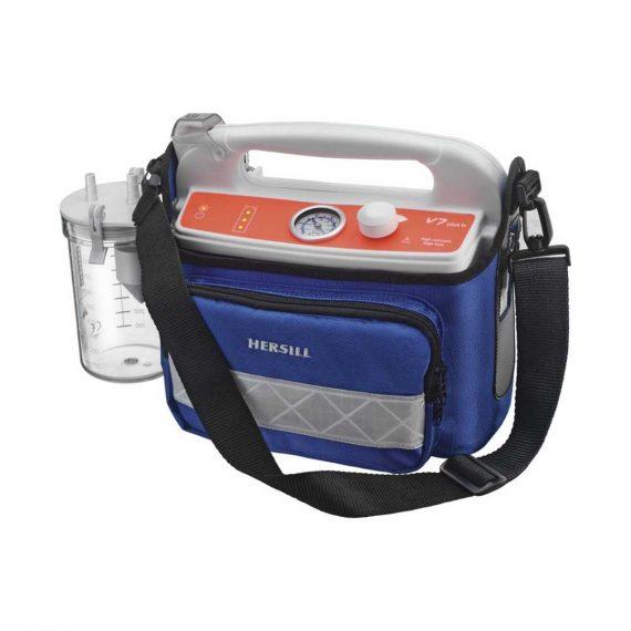 Hersill V7 Plus B Emergency HIGH VACUUM portable suction machine..